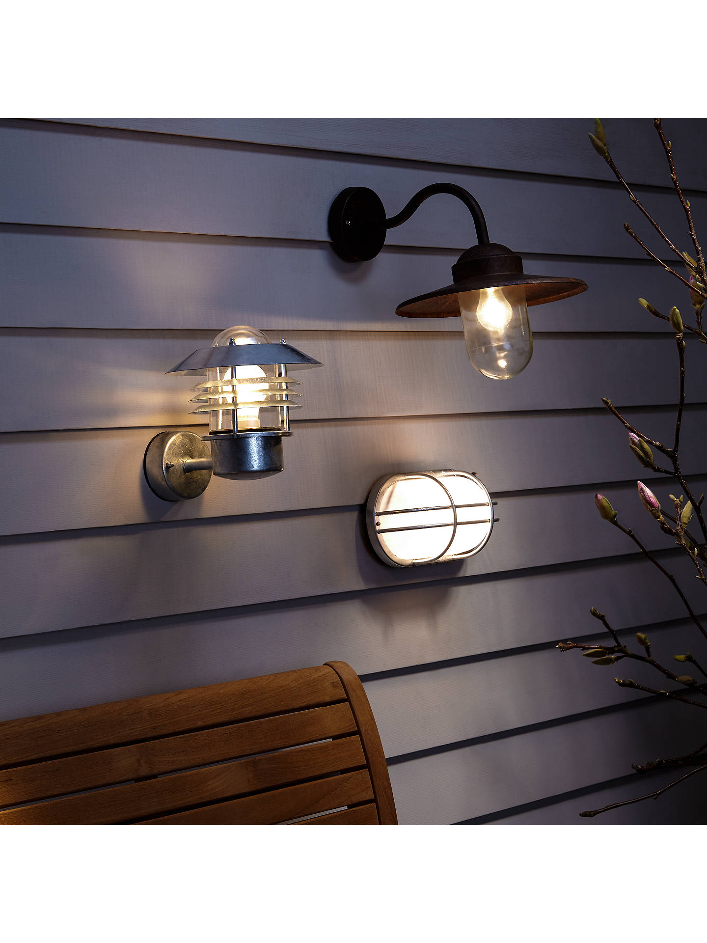 BuyNordlux Vejers Outdoor Wall Light, Galvanised Steel Online at johnlewis.com