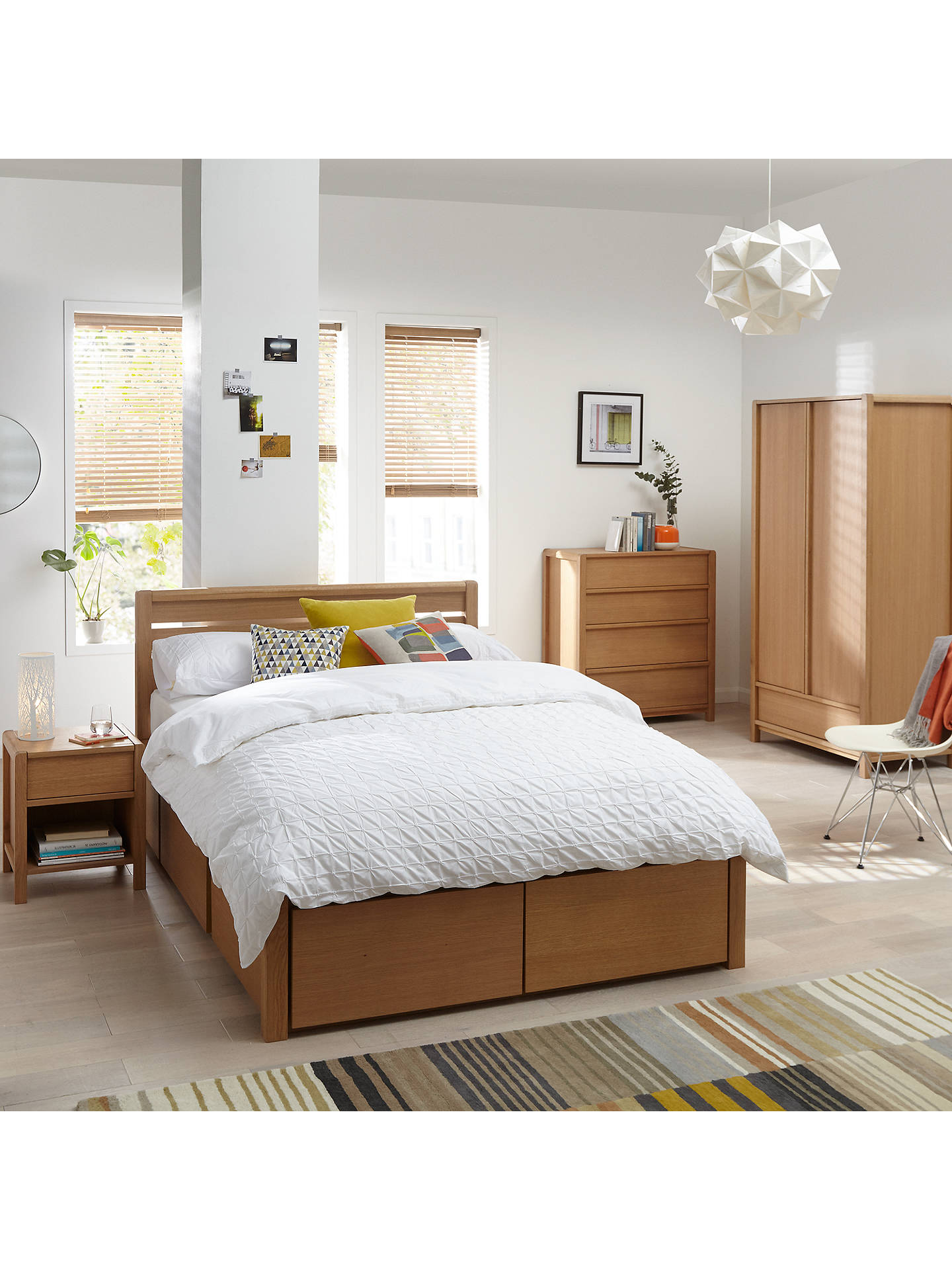 Buy John Lewis Montreal Headboard, Double, Oak Online at johnlewis.com