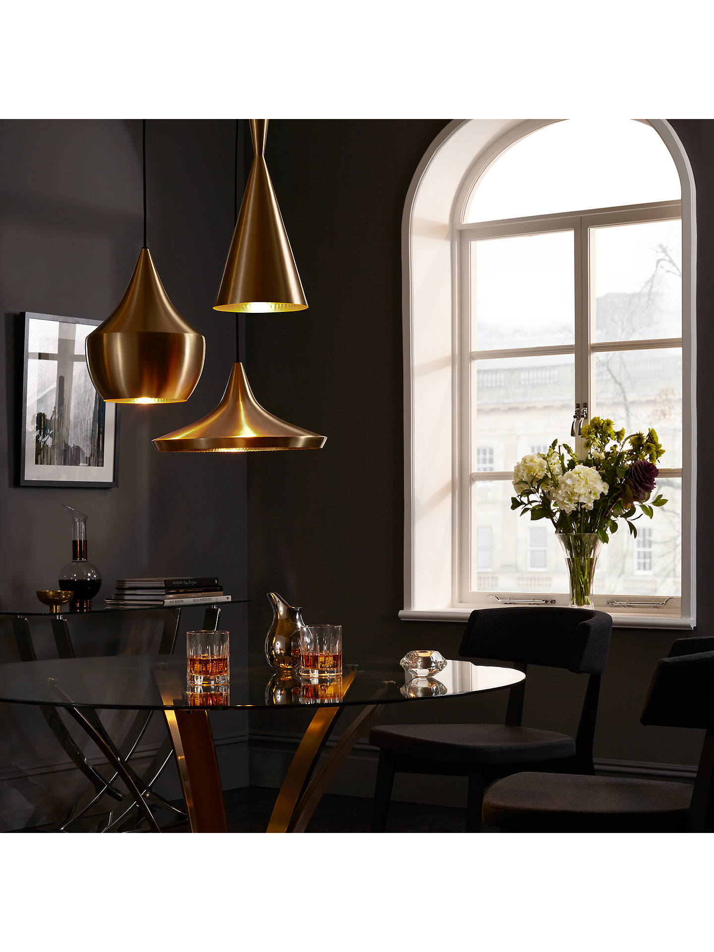 Astonishing John Lewis Moritz Glass Top Dining Table Antique Brass At Interior Design Ideas Tzicisoteloinfo