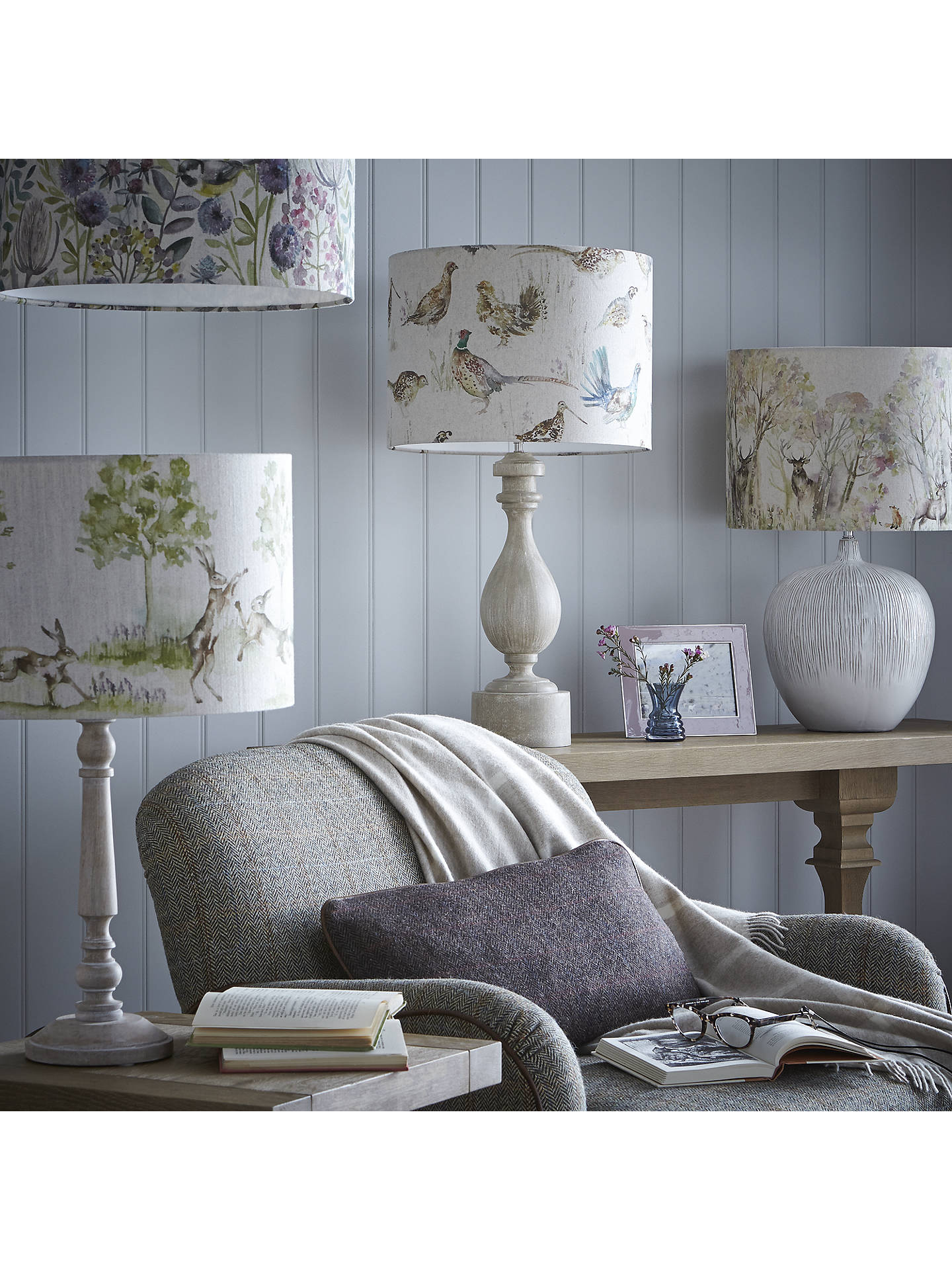 Buy John Lewis & Partners Marielle Wood Lamp Base, Sand, H52cm Online at johnlewis.com