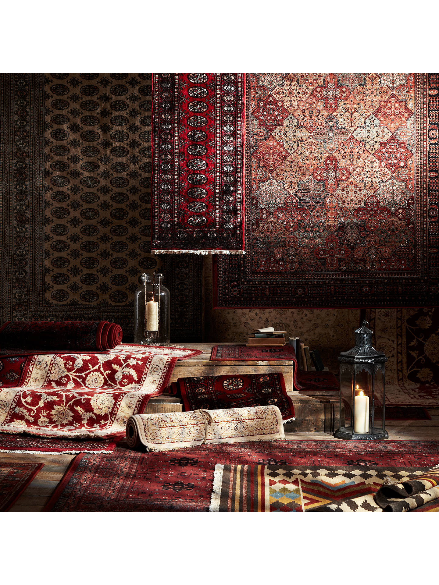 BuyJohn Lewis & Partners Pakistan Bokhara Handmade Rug, Red, L92 x W62cm Online at johnlewis.com
