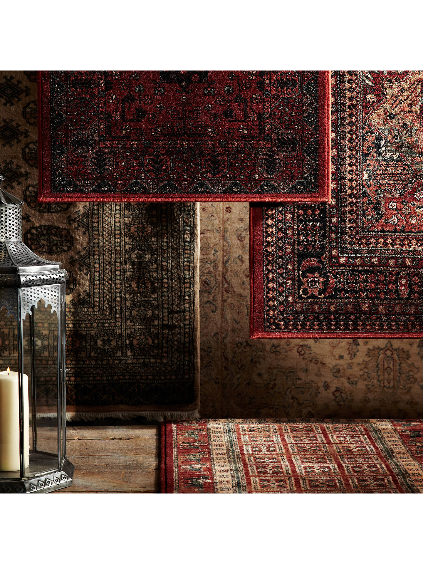 BuyJohn Lewis & Partners Royal Heritage Herati Rugs, Red, L160 x W80cm Online at johnlewis.com