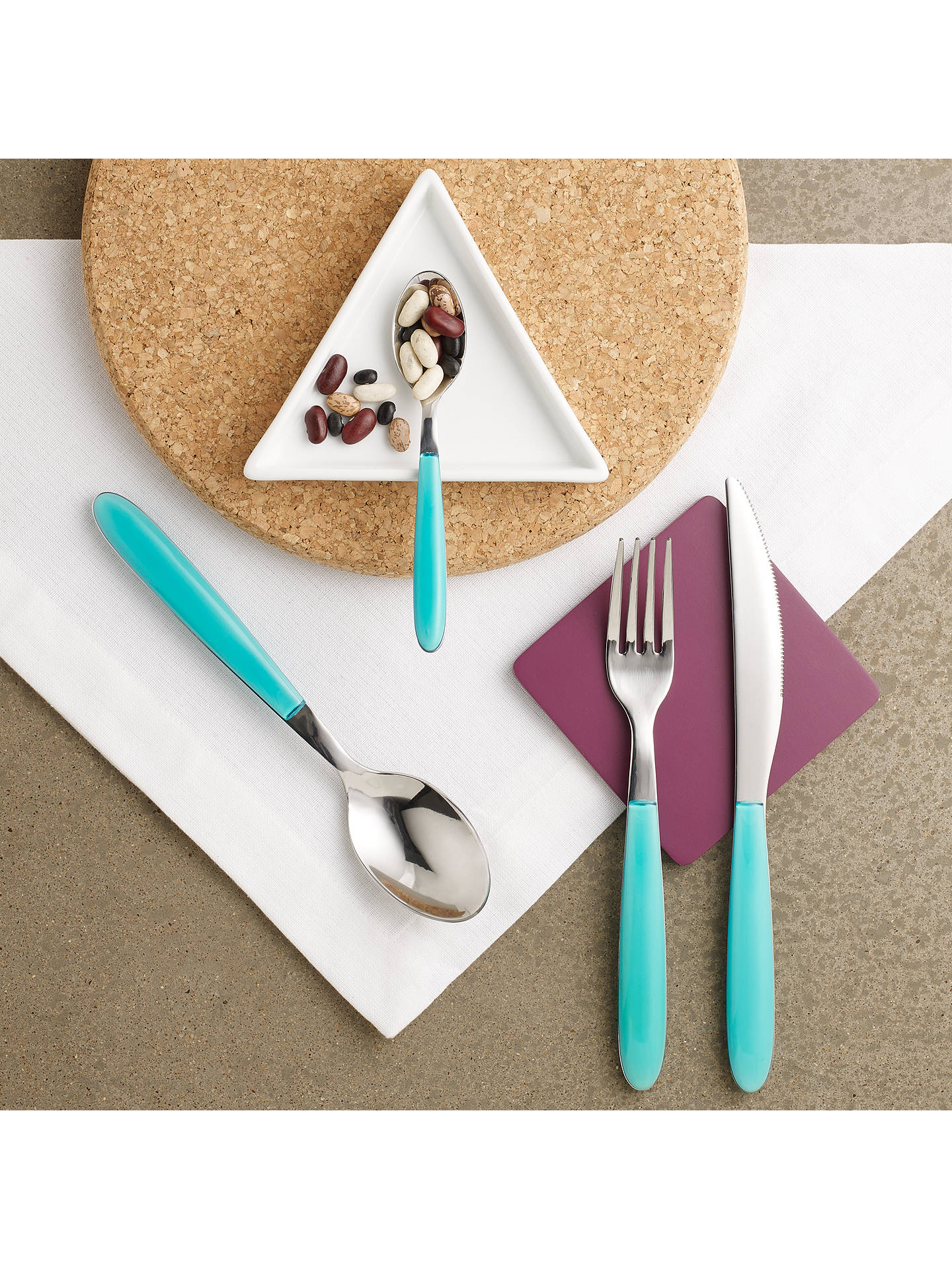 Buy House by John Lewis Vero Table Knife, Teal Online at johnlewis.com