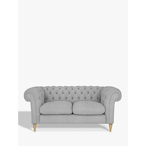 Buy John Lewis Cromwell Chesterfield Small 2 Seater Sofa, Light Leg, Dylan Natural Online at johnlewis.com