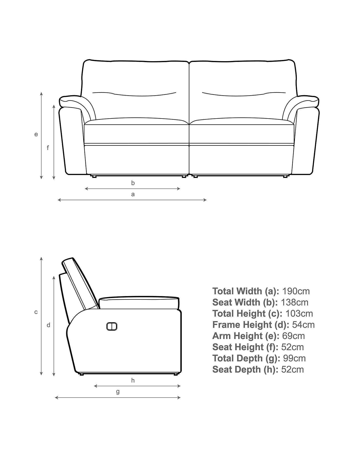 John Lewis & Partners Carlisle Medium 2 Seater Power Recliner Sofa, Ffion Cherry