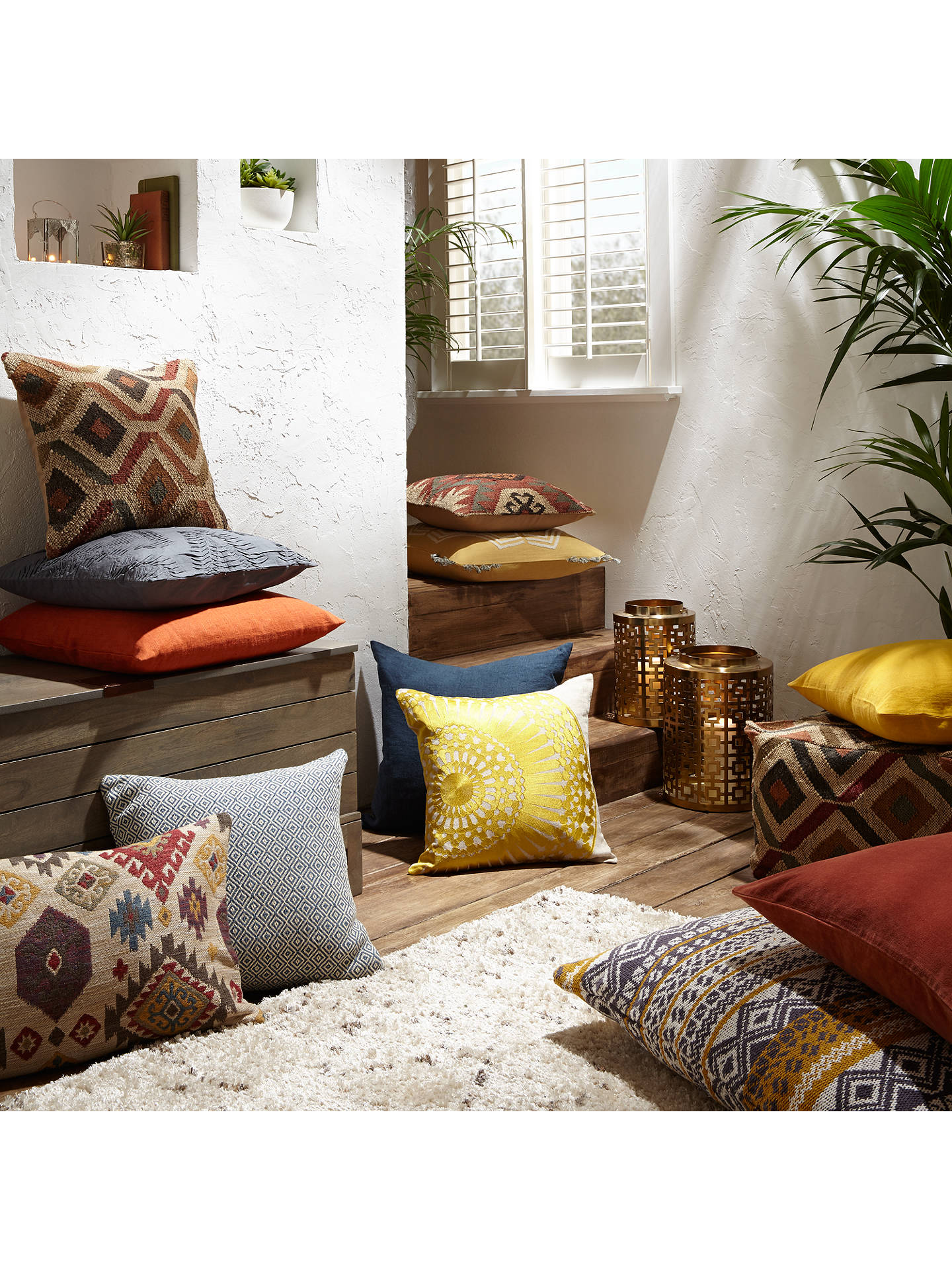 BuyJohn Lewis Ikat Kelim Cushion, Natural Online at johnlewis.com
