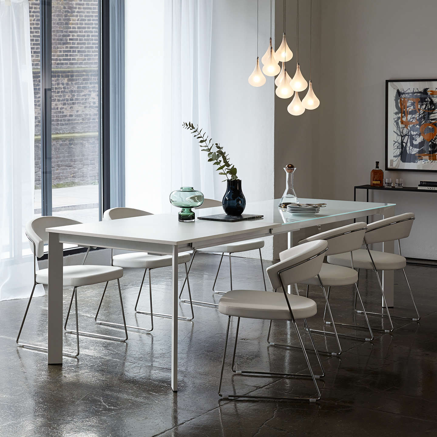Ideal John Lewis Odyssey 6-10 Seater Glass Top Extending Dining Table at  NJ44