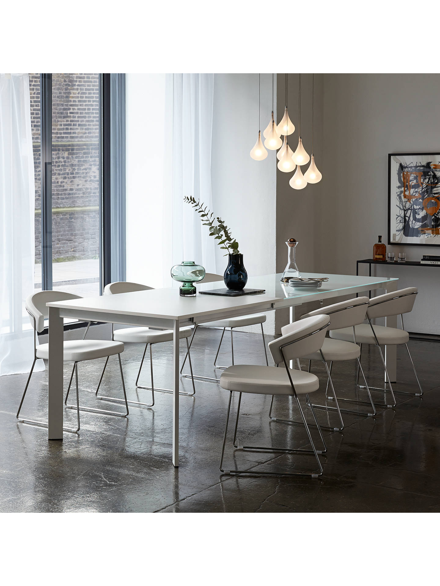 John Lewis Partners Odyssey 6 10 Seater Glass Top Extending Dining