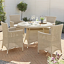 Buy John Lewis Dante Dining Table & 4 Dining Armchairs, Natural Online at johnlewis.com