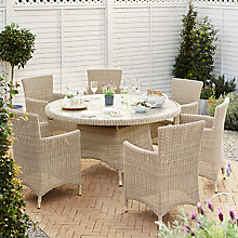 Buy John Lewis Dante Dining Table & 6 Dining Armchairs, Natural Online at johnlewis.com