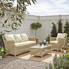 Buy John Lewis Dante 4 Seater Outdoor Lounging Set, Natural Online at johnlewis.com