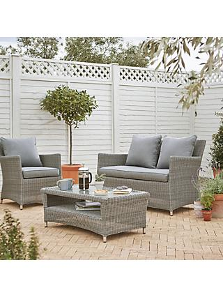 John Lewis Dante 4-Seater Garden Lounging Set, Grey