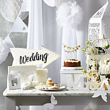 Buy Silver and White Wedding Online at johnlewis.com