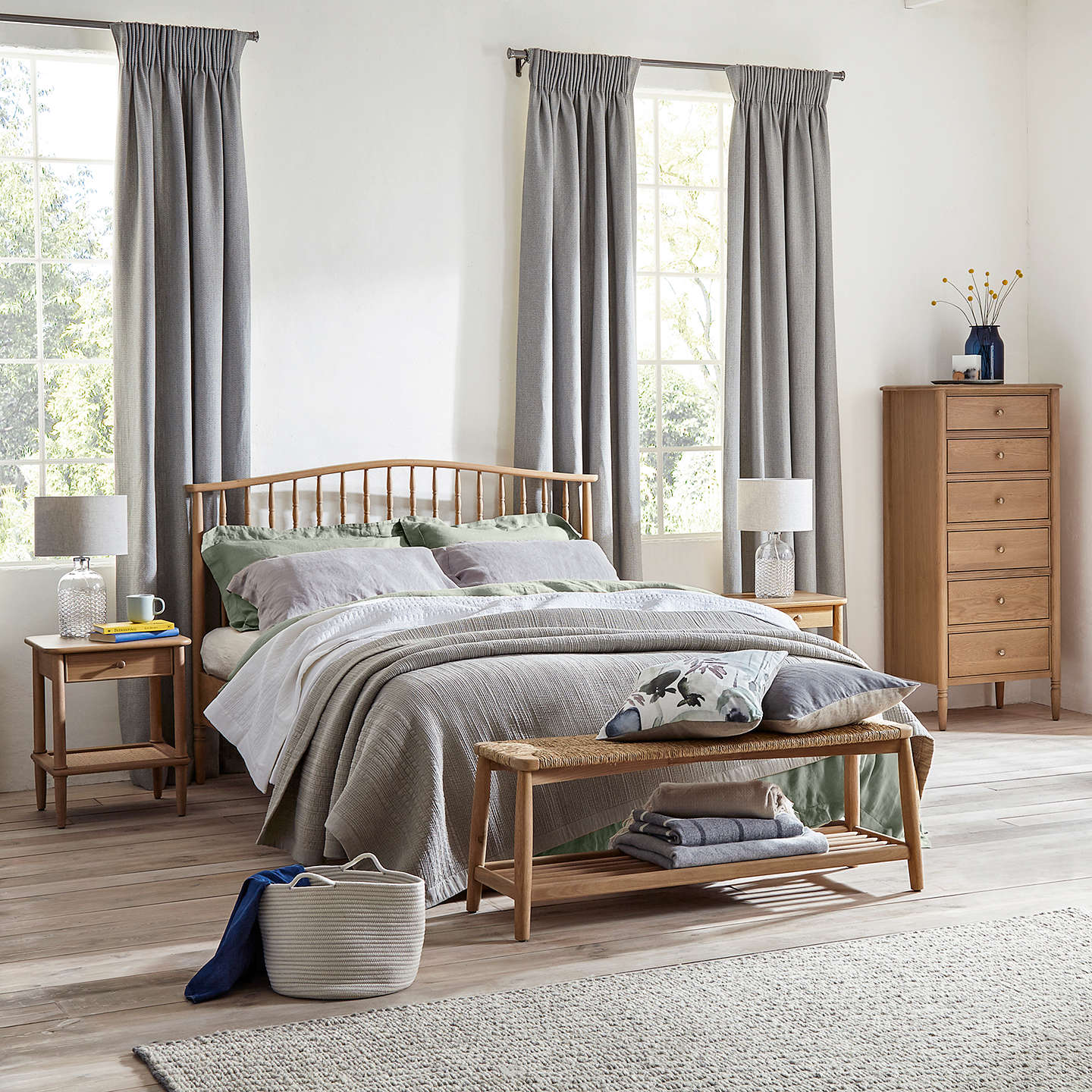 Croft collection bala spindle bed frame double at john lewis for John lewis chinese furniture