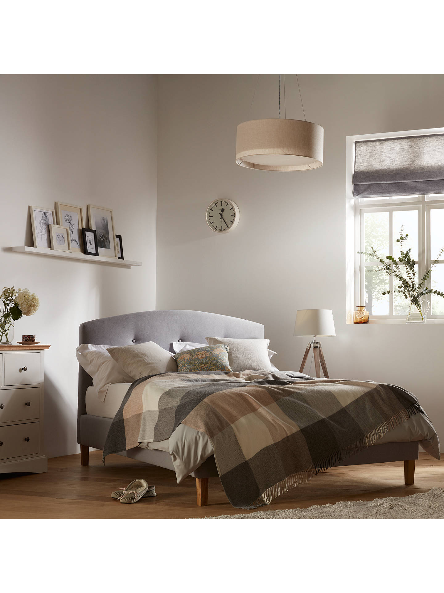 John Lewis Partners Grace Bed Frame King Size Grey At John Lewis