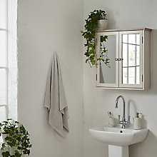 Buy John Lewis Croft Collection Blakeney Double Mirrored Bathroom Cabinet, Putty Online at johnlewis.com