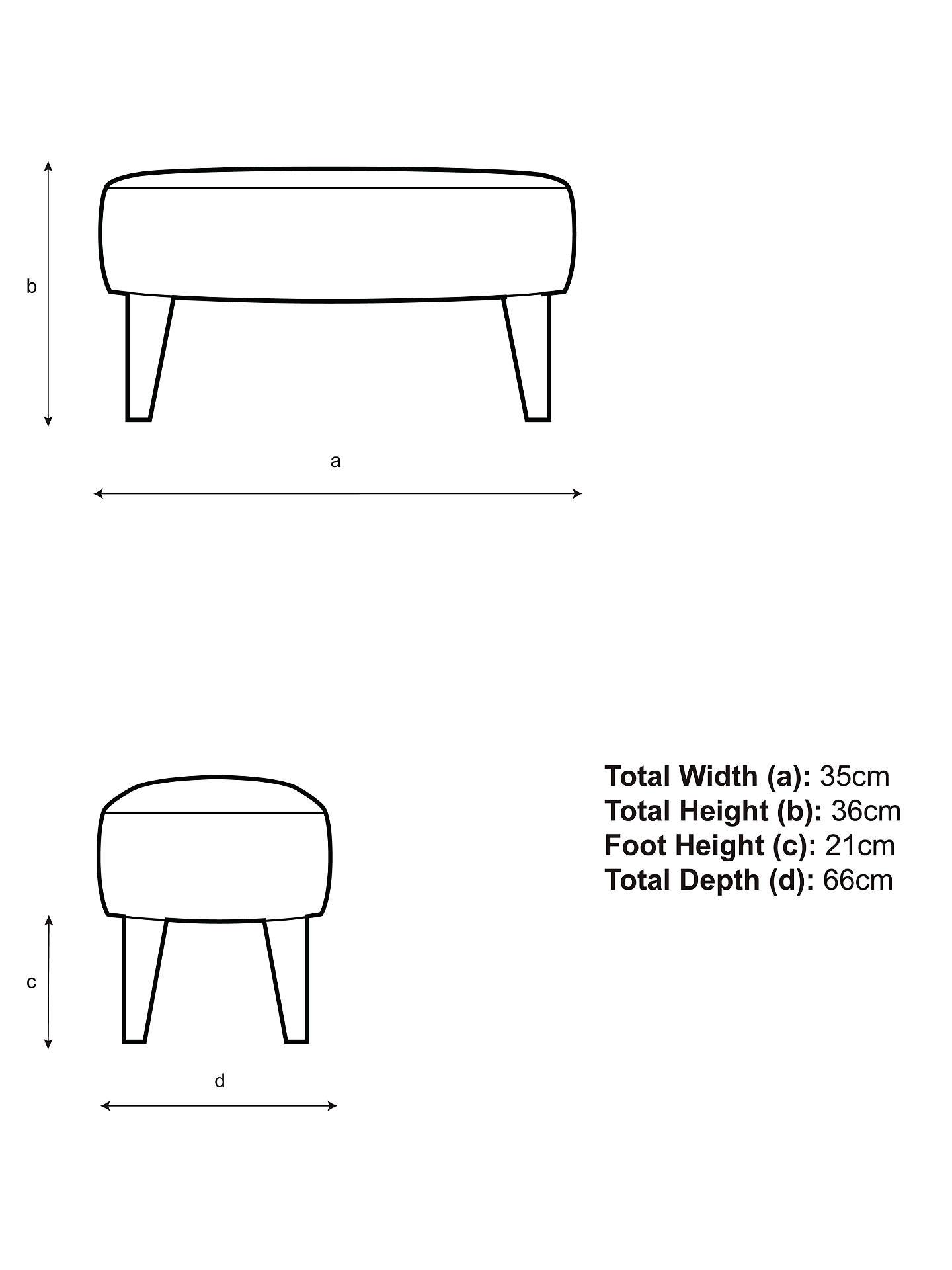 Groovy John Lewis Partners Bergen Footstool Light Leg Mole Grey Ncnpc Chair Design For Home Ncnpcorg