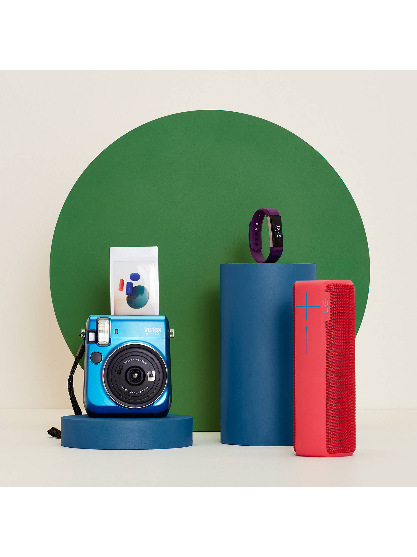 BuyFujifilm Instax Mini 70 Instant Camera With 10 Shots Of Film, Selfi Mode, Built-In Flash & Hand Strap, Blue Online at johnlewis.com