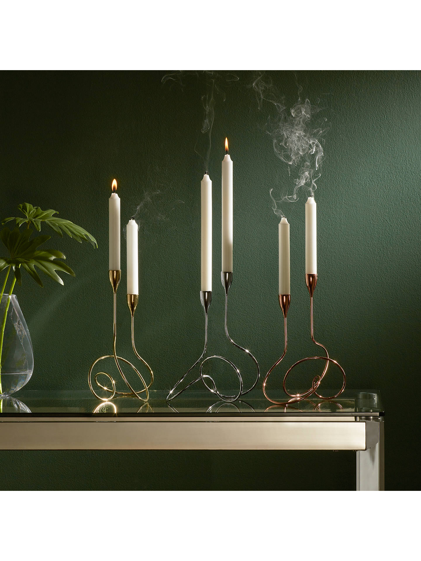 Buyblack+blum Loop Candelabra, 2 Arm, Copper Online at johnlewis.com
