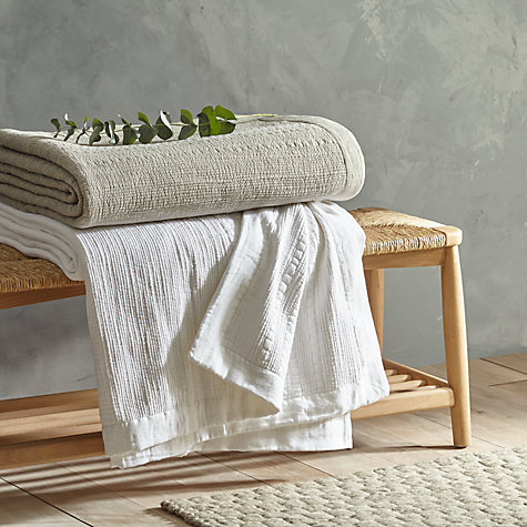Buy John Lewis Croft Collection Linear Stripe Throw Online at johnlewis.com