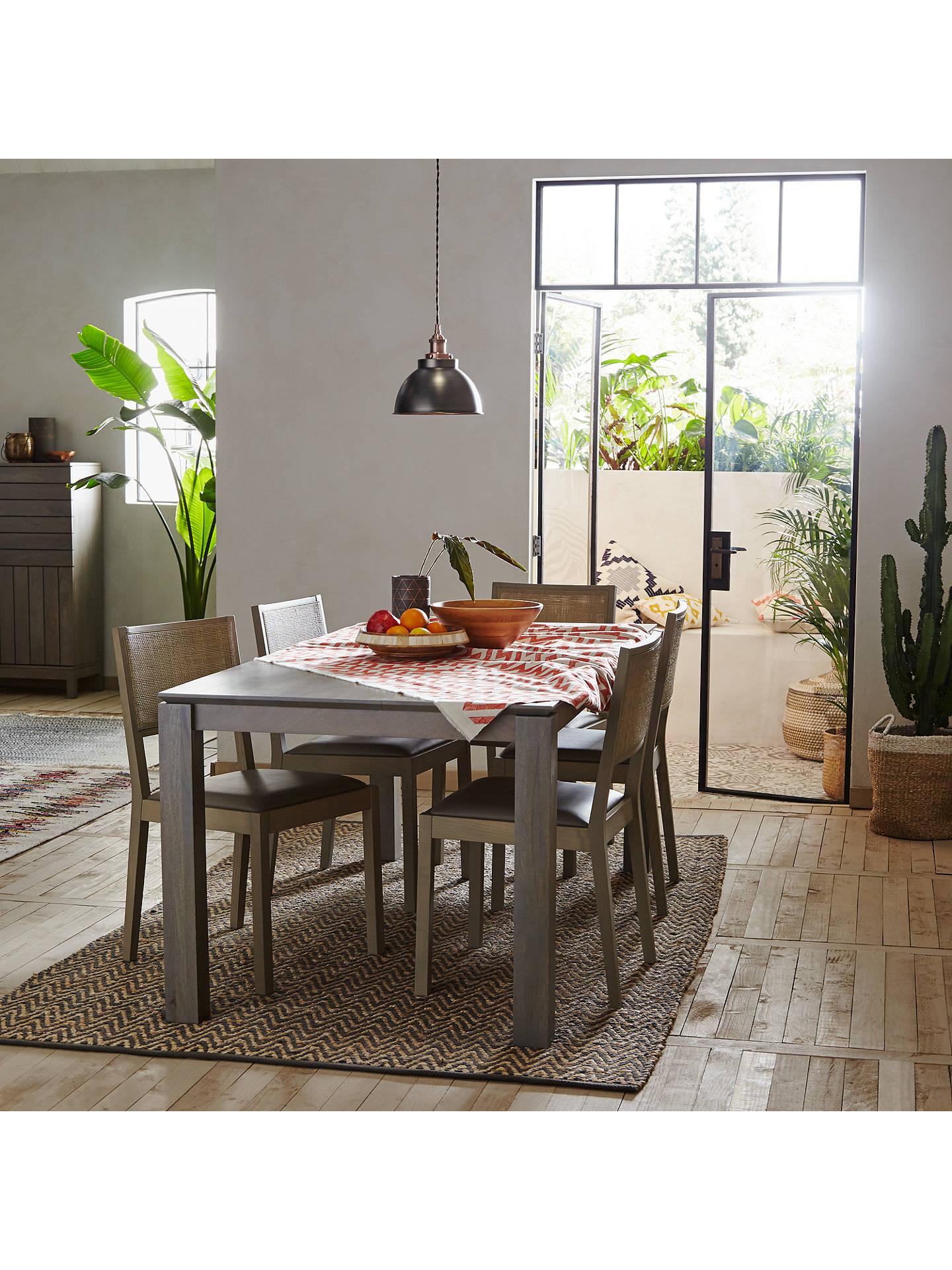 John Lewis Partners Asha 3 Seater Dining Bench Grey