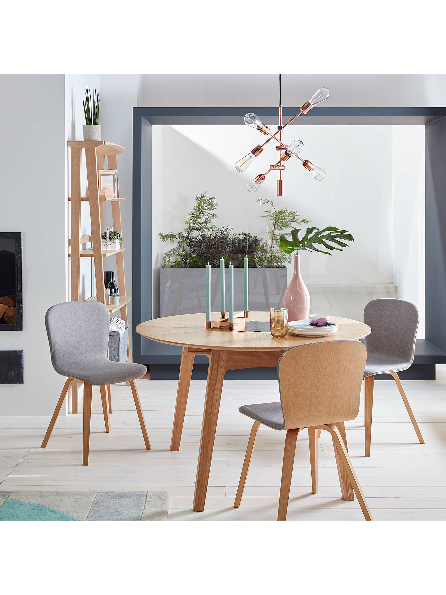 new concept 915c0 396c4 John Lewis & Partners Duhrer 4-6 Seater Extending Round Dining Table