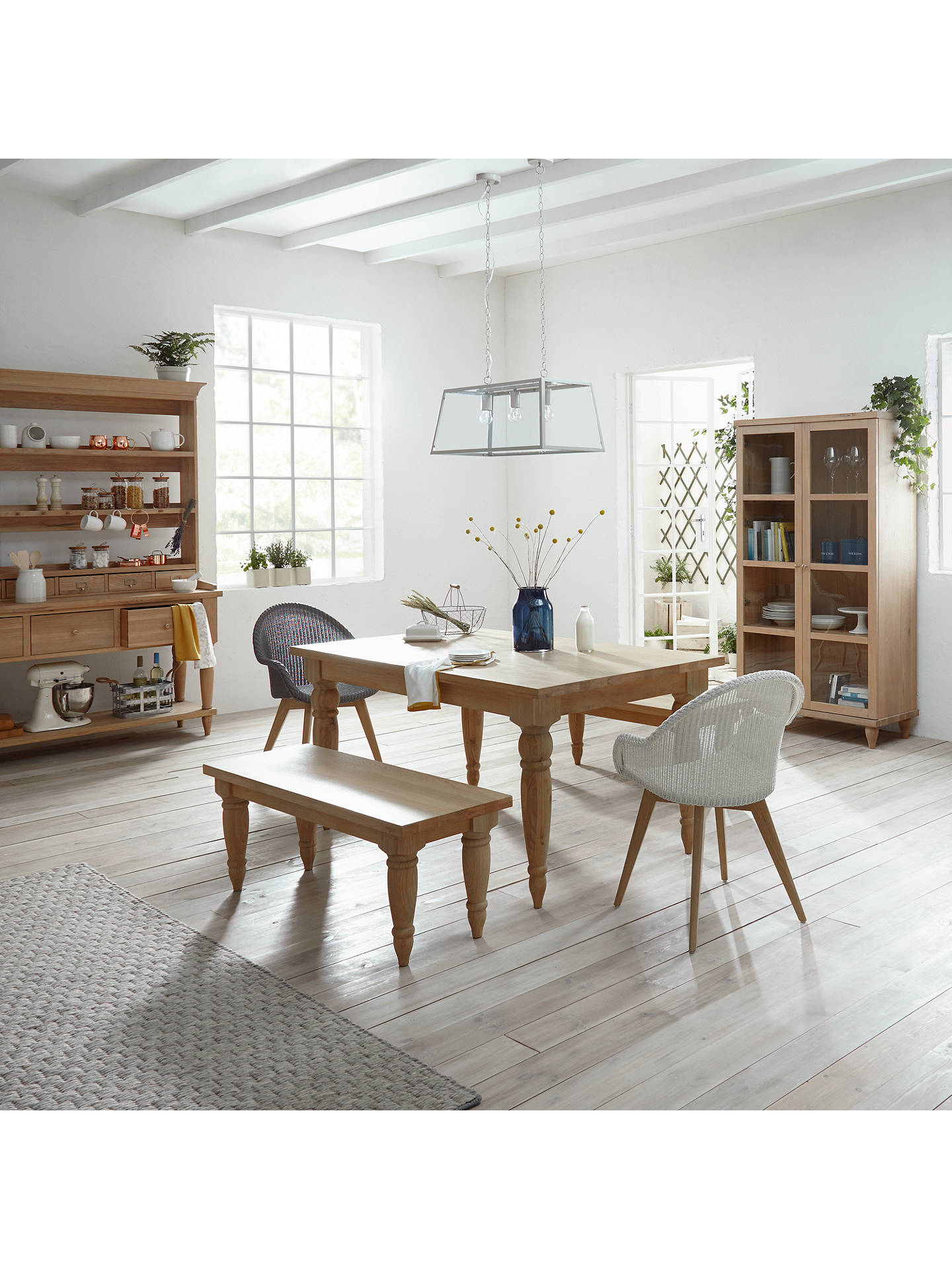 Buy Croft Collection Easdale Lloyd Loom Dining Chair, Off White Online at johnlewis.com