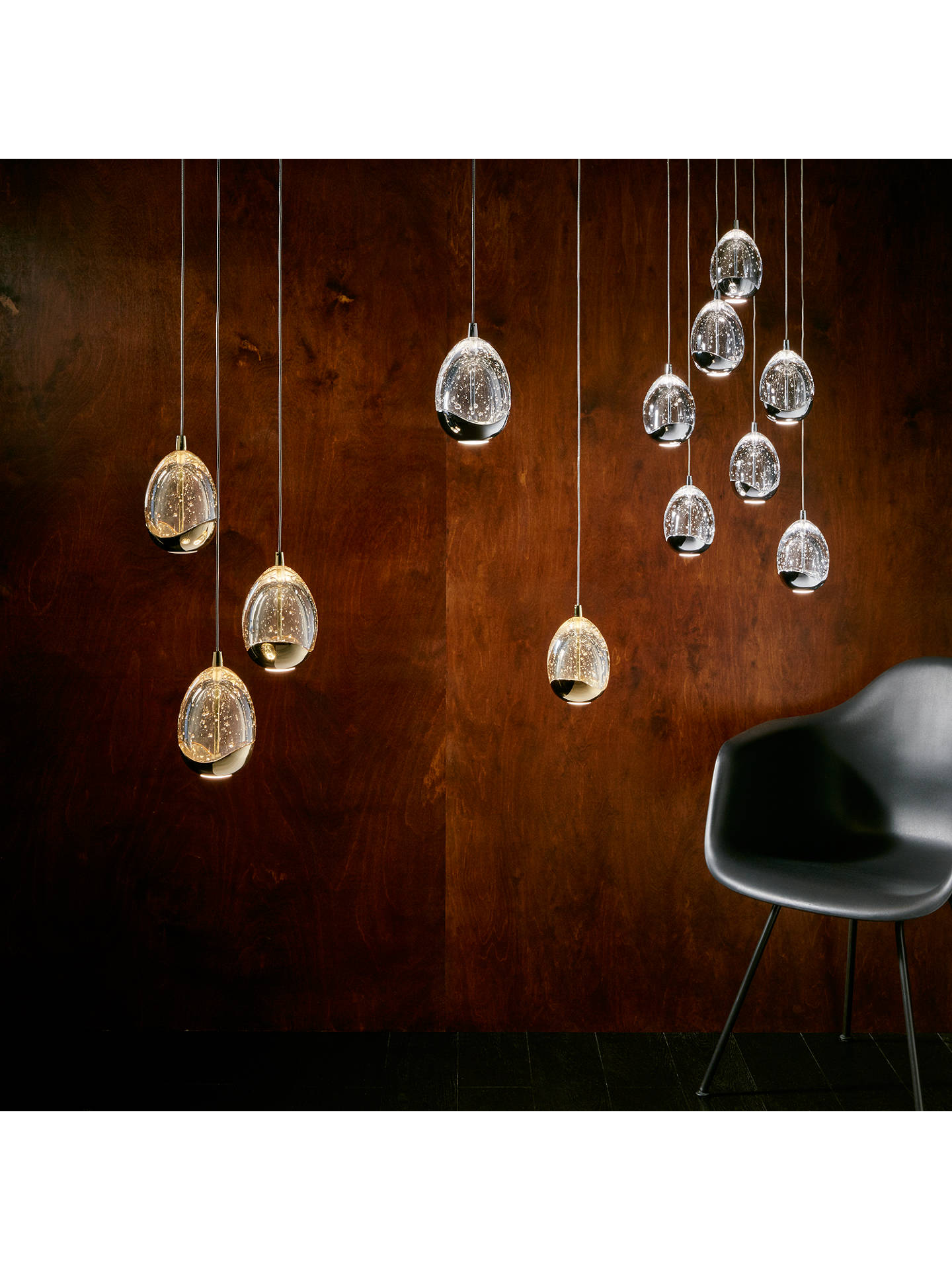 BuyJohn Lewis & Partners Droplet LED Single Pendant Ceiling Light, Satin Gold Online at johnlewis.com