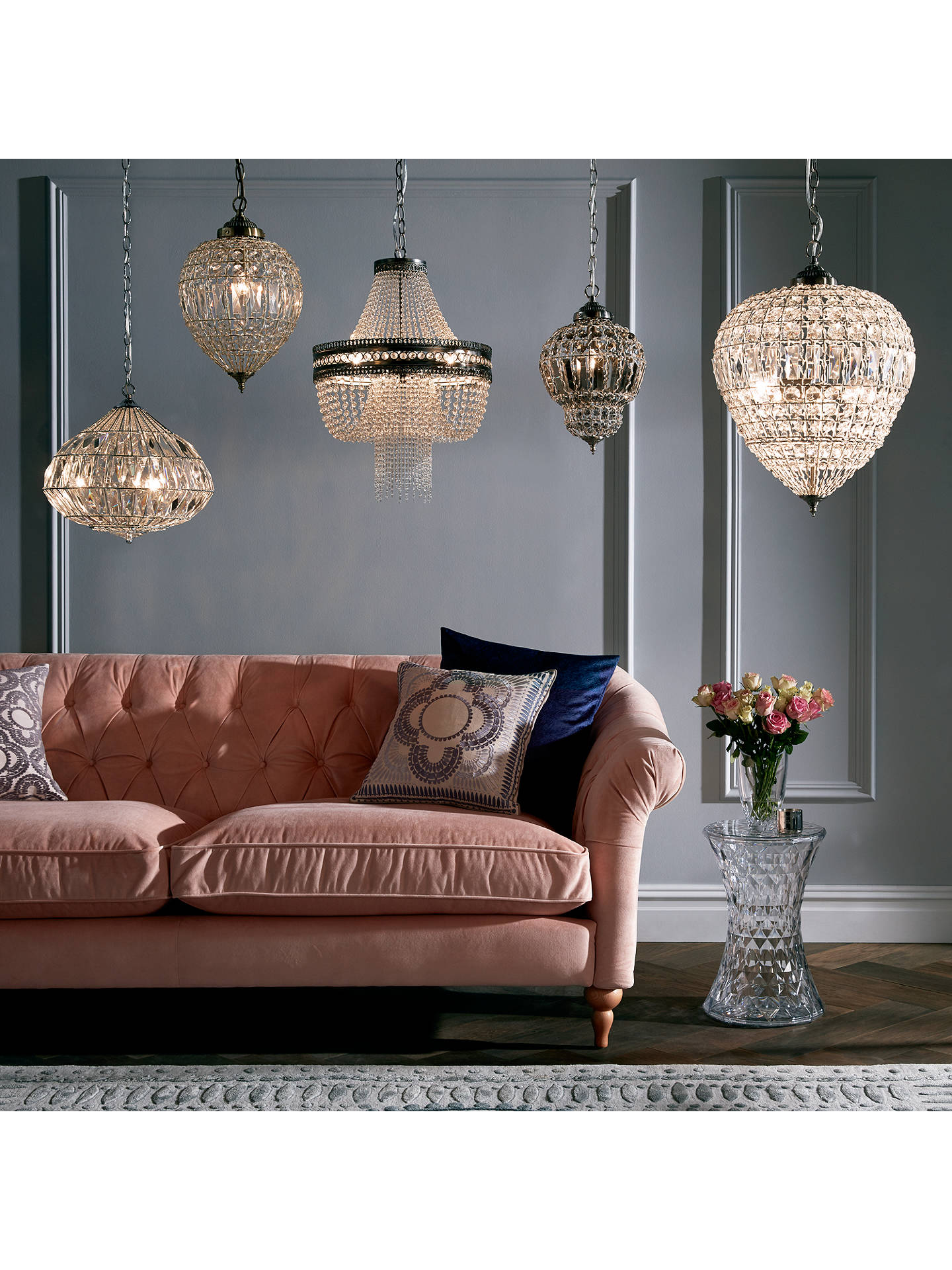 Buy John Lewis & Partners Dante Grande Ceiling Light, Clear Online at johnlewis.com