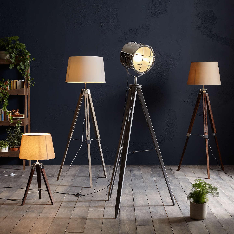 BuyJohn Lewis Jacques Tripod Floor Lamp Brown Online At Johnlewis