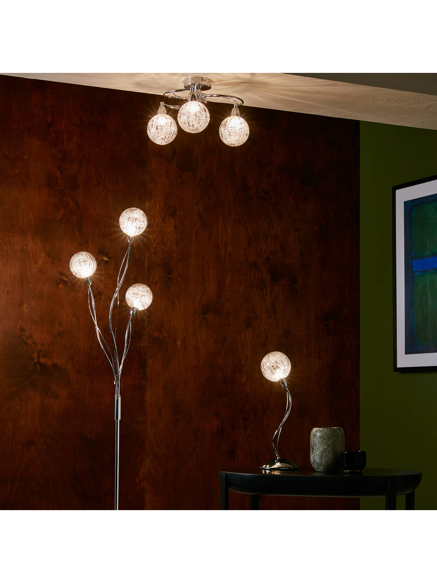 Robertson Table Lamp, Chrome