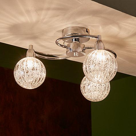 Buy John Lewis Robertson Semi Flush 3 Arm Ceiling Light