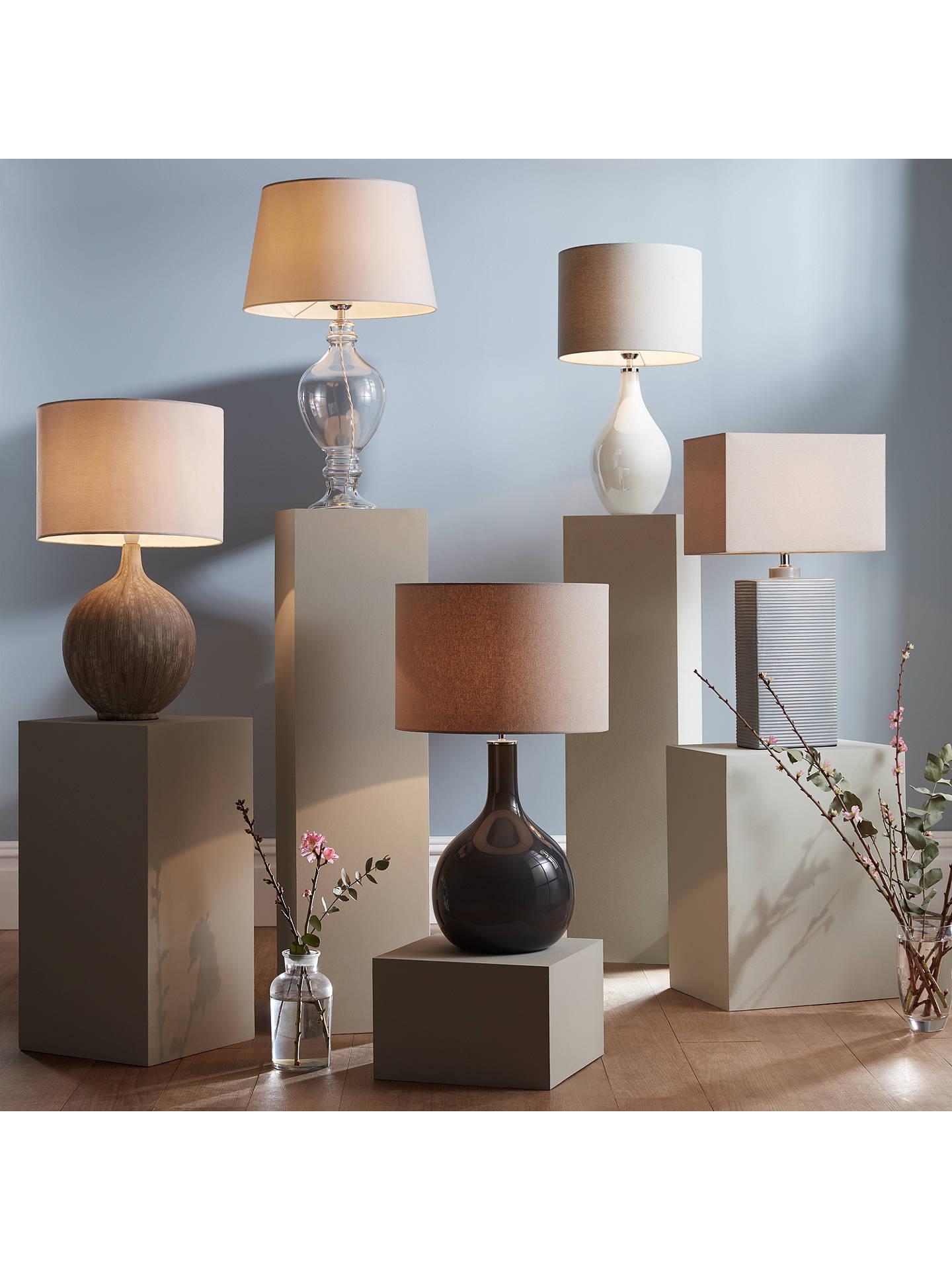 John Lewis & Partners Ebony Table Lamp Large At John Lewis & Partners