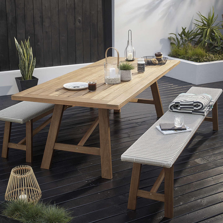 10 Seater Garden Furniture John lewis stockholm 8 10 seater garden dining table bench set buyjohn lewis stockholm 8 10 seater garden dining table bench set fsc workwithnaturefo