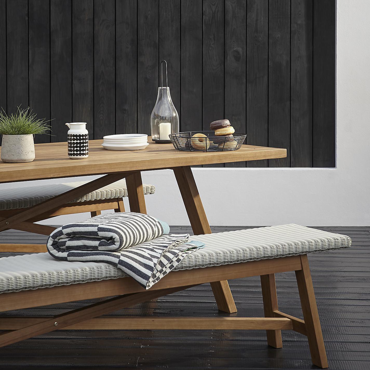 buy john lewis stockholm 6 seater dining table u0026 bench set
