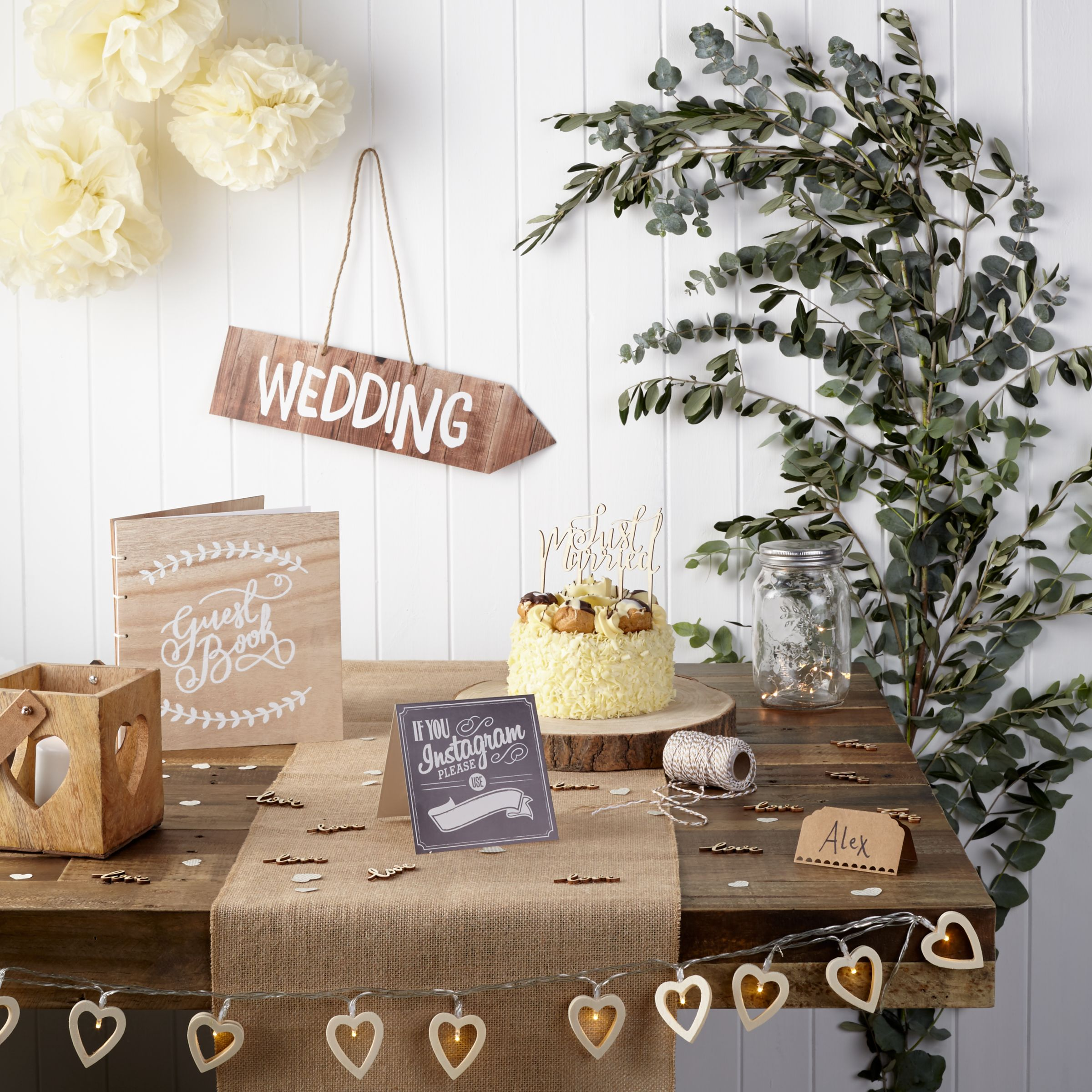 Wedding invitations cakes decorations photo albums john lewis wedding table room decorations stopboris Image collections