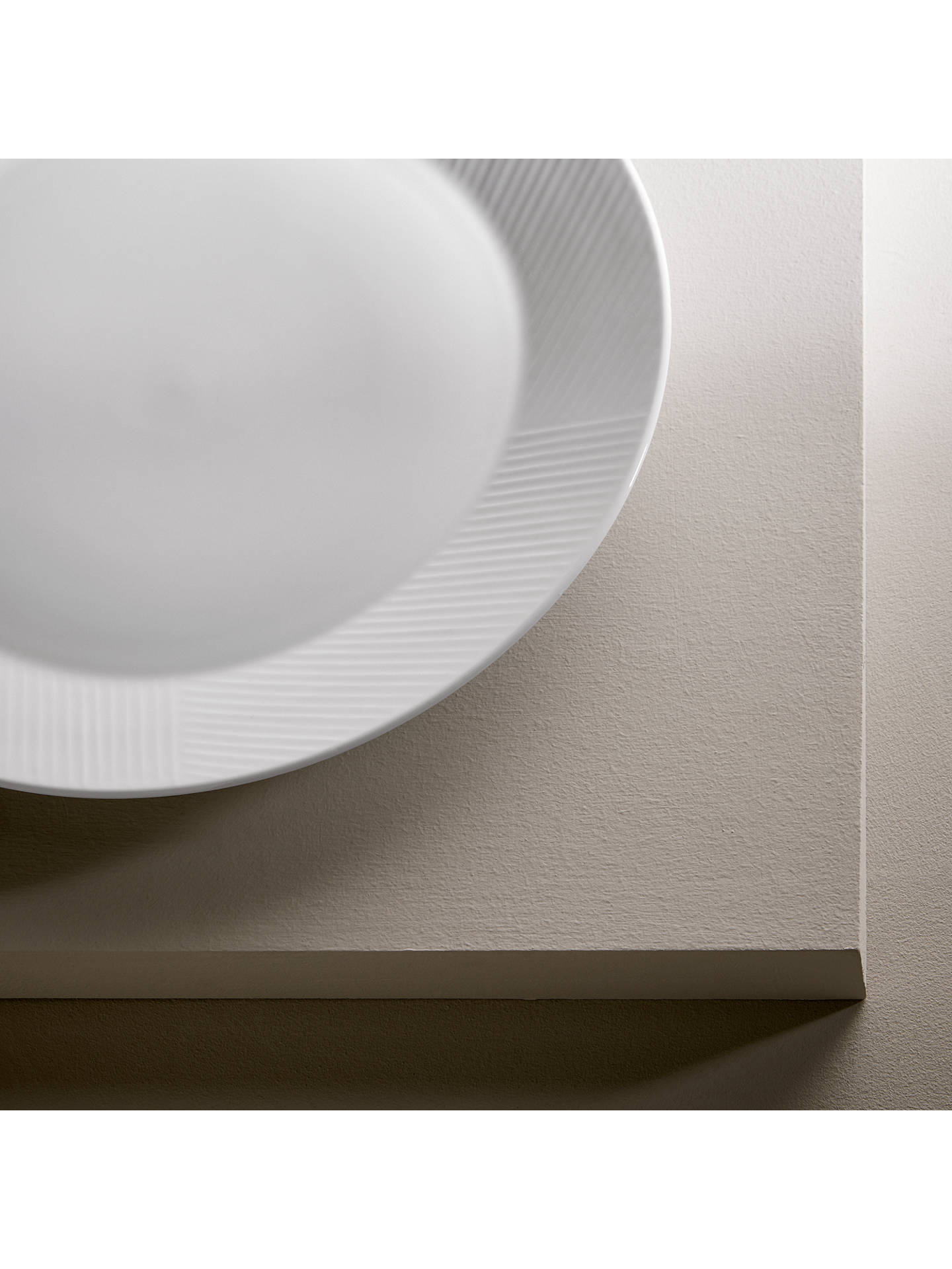 Buy Design Project by John Lewis No.098 Coupe Dinner Plate, 28cm, White Online at johnlewis.com