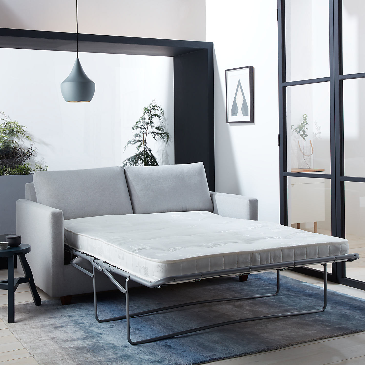 Sofa beds with sprung mattress -  Buy John Lewis Barlow 2 Seater Small Sofa Bed With Pocket Sprung Mattress Erin Midnight