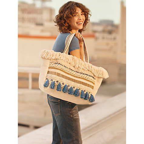 Buy AND/OR Tote Bag, Cream Online at johnlewis.com
