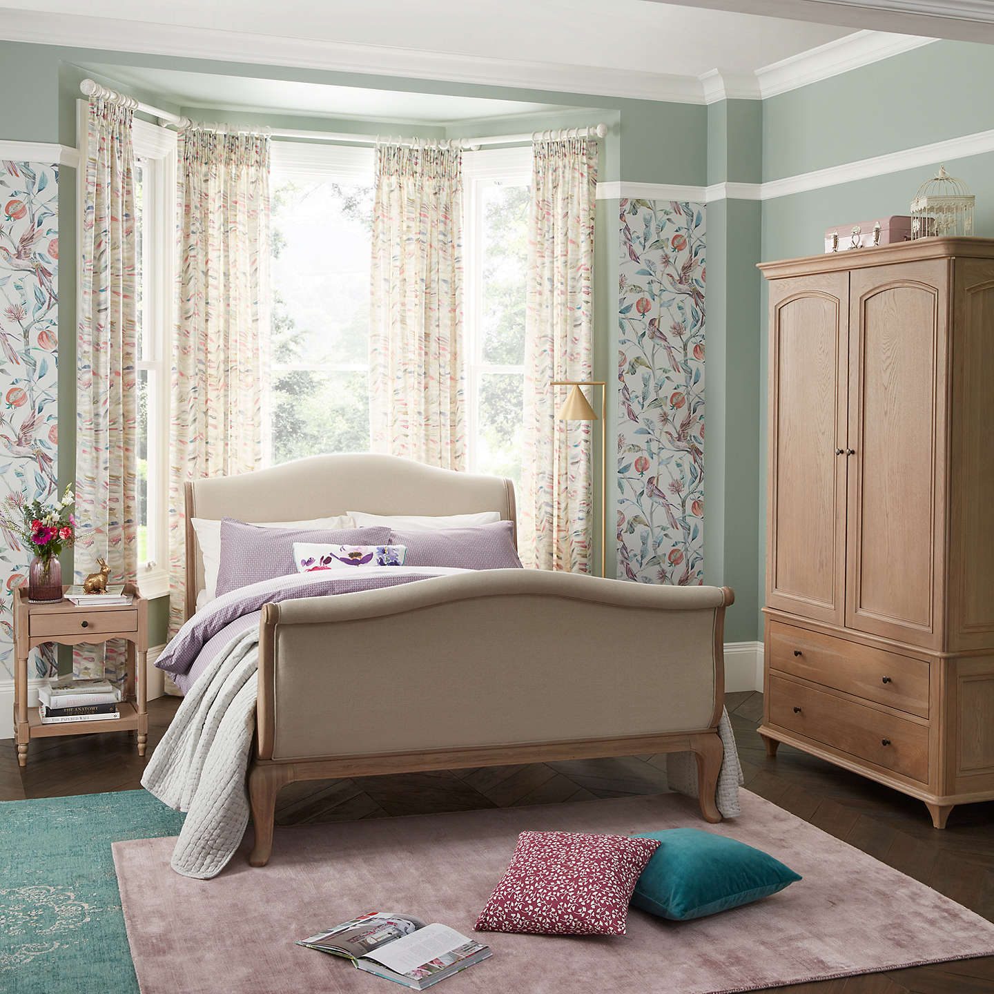 frame new teau b lit bateau brodsworth bed the french solid mahogany sleigh kingsize product copy shack