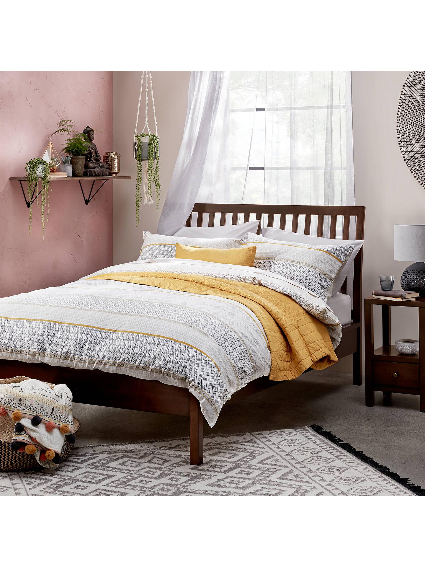 BuyJohn Lewis Partners Medan Bed Frame Double Dark Wood Online At Johnlewis