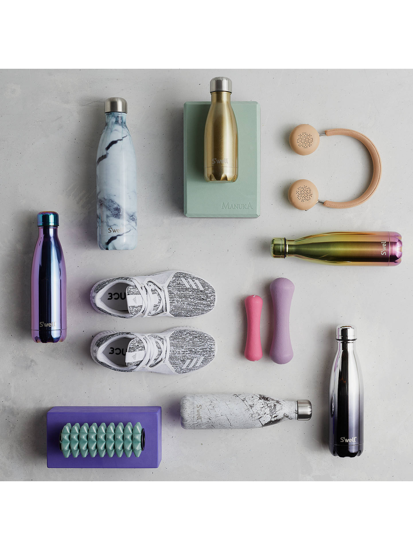 Buy S'well White Marble Vacuum Insulated Drinks Bottle, 260ml Online at johnlewis.com