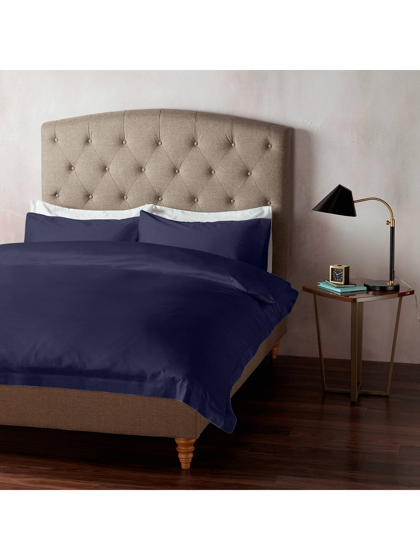 Buy John Lewis & Partners 400 Thread Count Soft & Silky Egyptian Cotton Standard Pillowcase, Midnight Blue Online at johnlewis.com