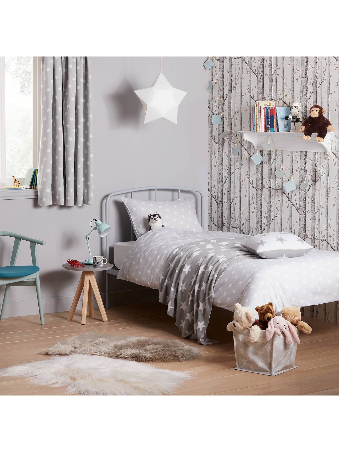 Buy little home at John Lewis Star Throw, Grey/White Online at johnlewis.com