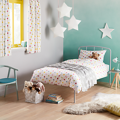 little home at John Lewis Star Duvet Cover and Pillowcase Set, Single, Multi