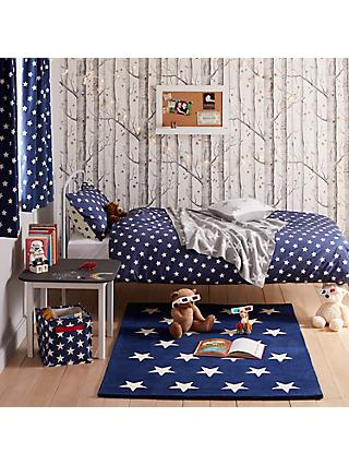 100 cotton bedding john lewis little home at john lewis star duvet cover and pillowcase set single blue gumiabroncs Image collections