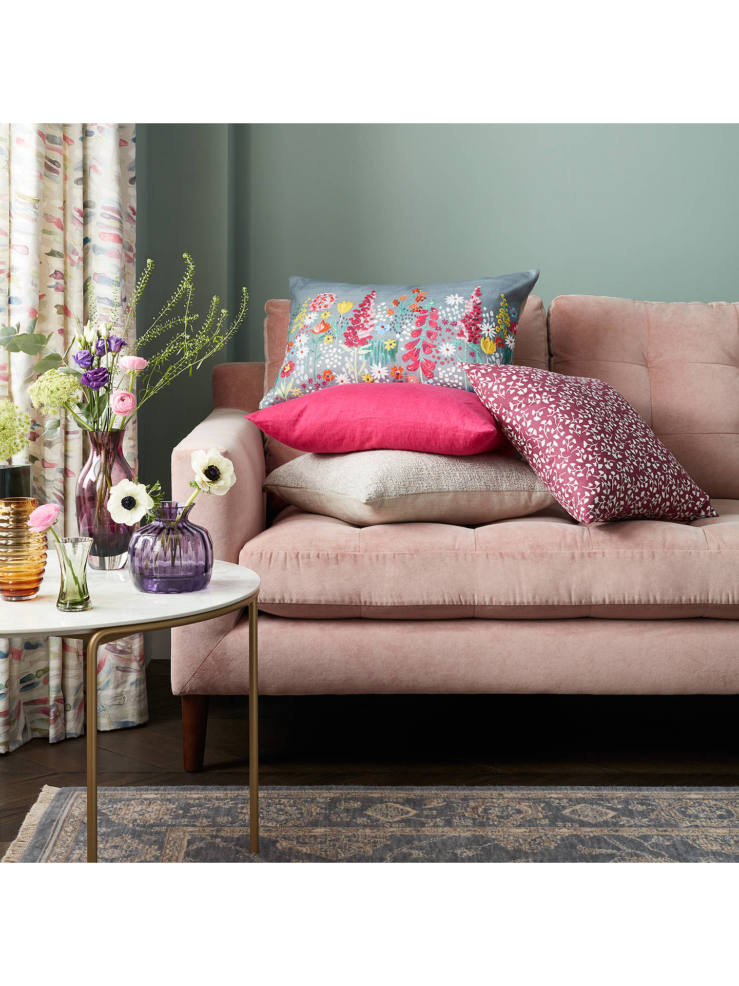 Buy John Lewis & Partners Sissinghurst Border Cushion, Multi Online at johnlewis.com