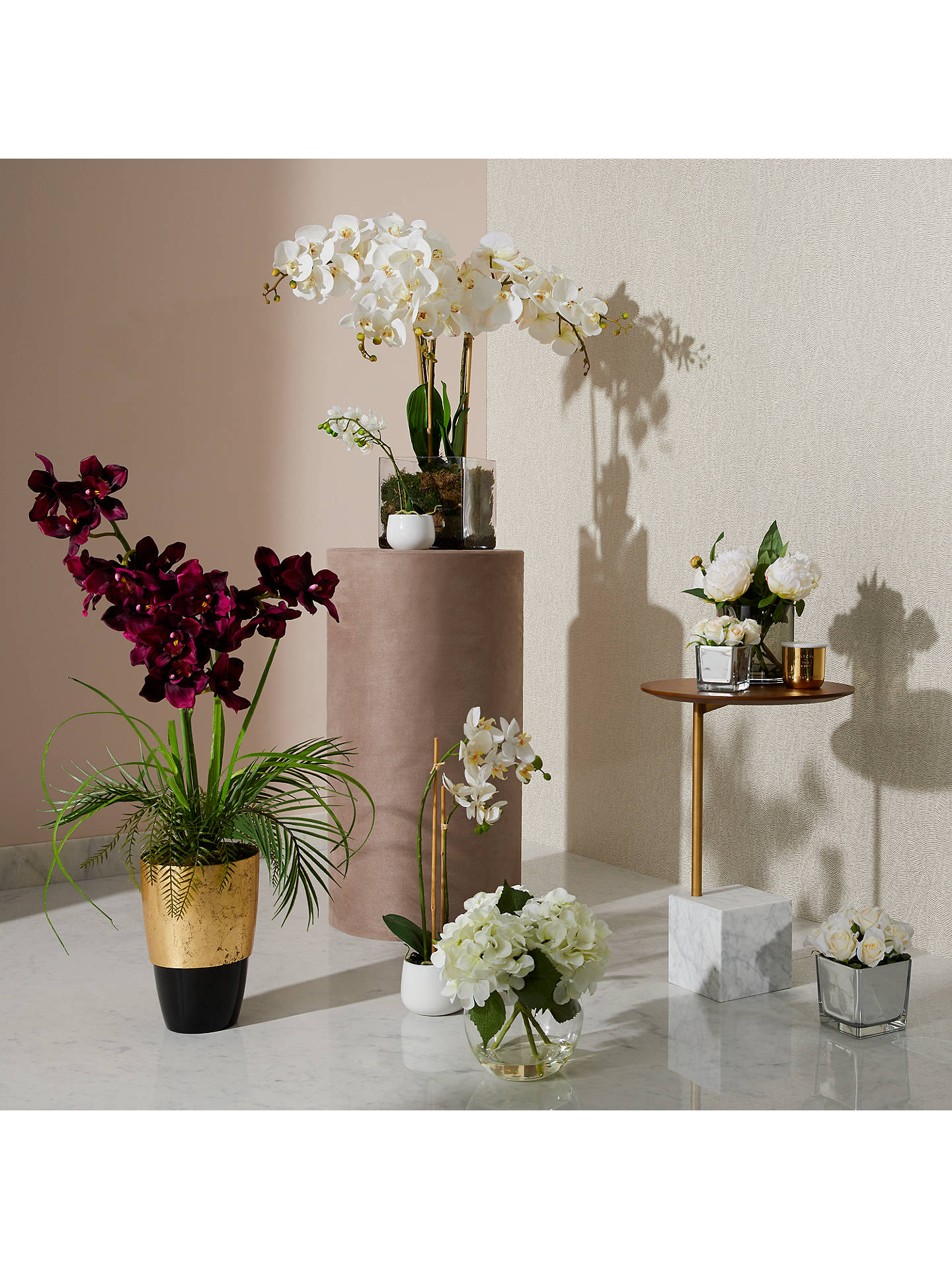 House By John Lewis Artificial Orchid White Large At John Lewis