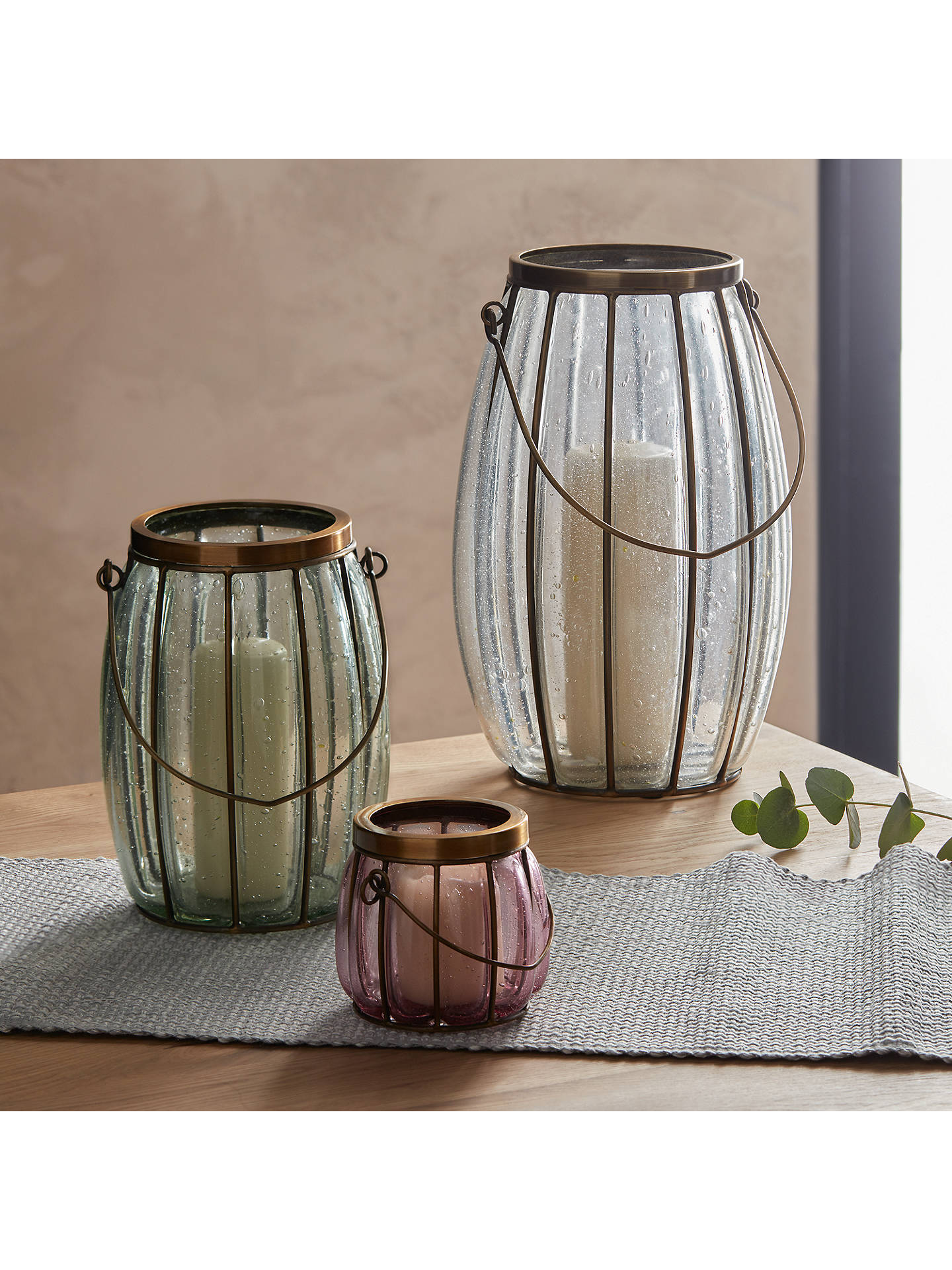 BuyCroft Collection Bubble Glass Candle Holder, Medium Online at johnlewis.com
