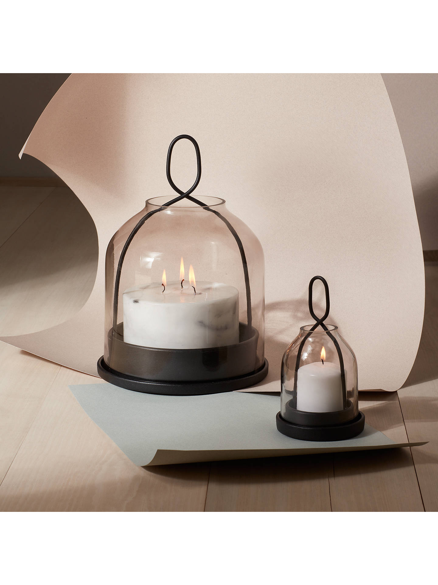 BuyDesign Project by John Lewis No.150 Smoke Glass Lantern, Large Online at johnlewis.com